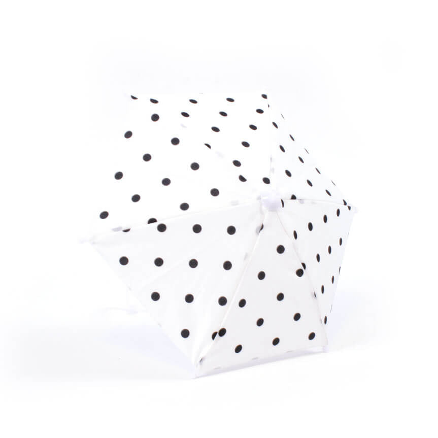 White w/ Black Polka-Dot Umbrella