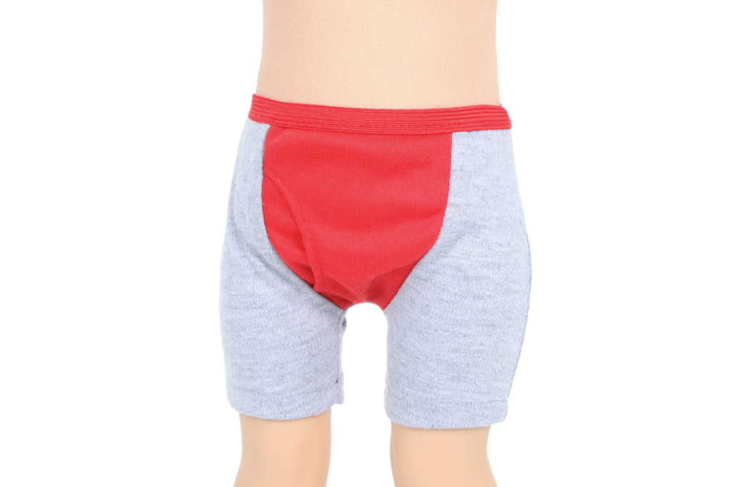 Red and Gray Boys Knit Underwear