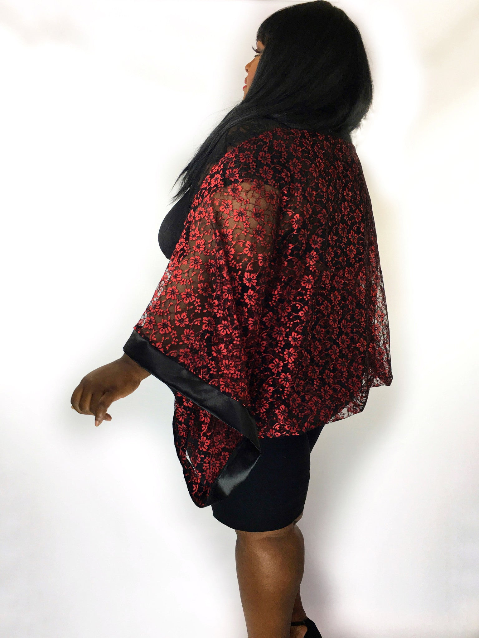 InstaGlam Shrug in Hemp Silk Lace