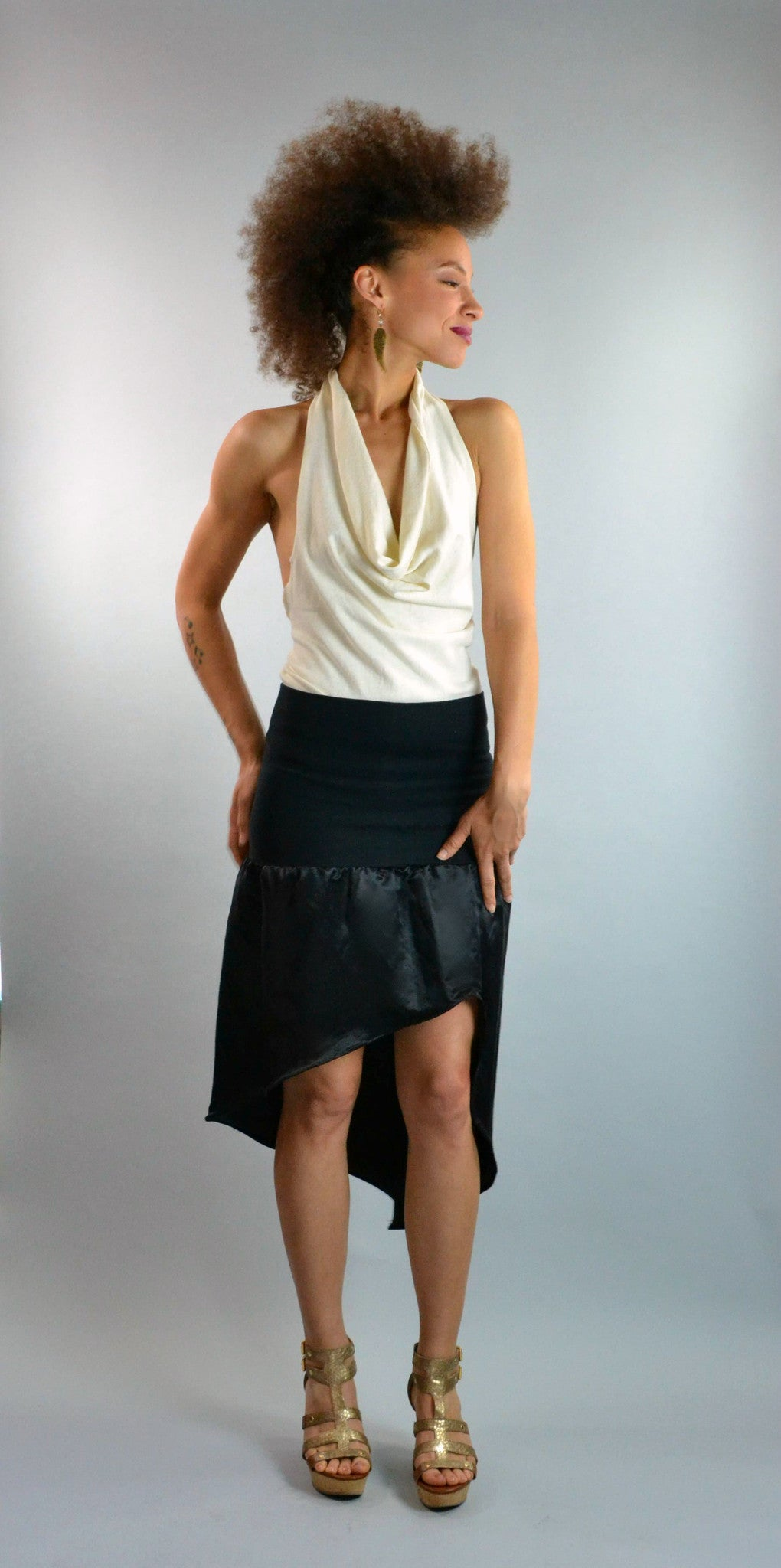 Hemp Silk Skirt Dress