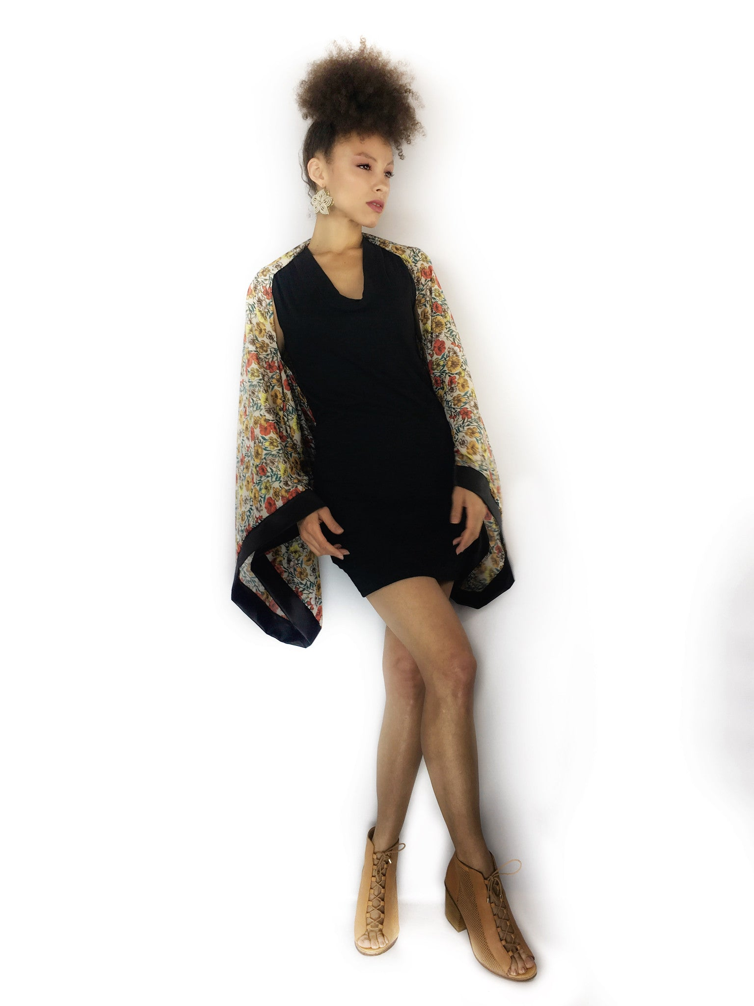 Floral Hemp Silk InstaGlam Shrug