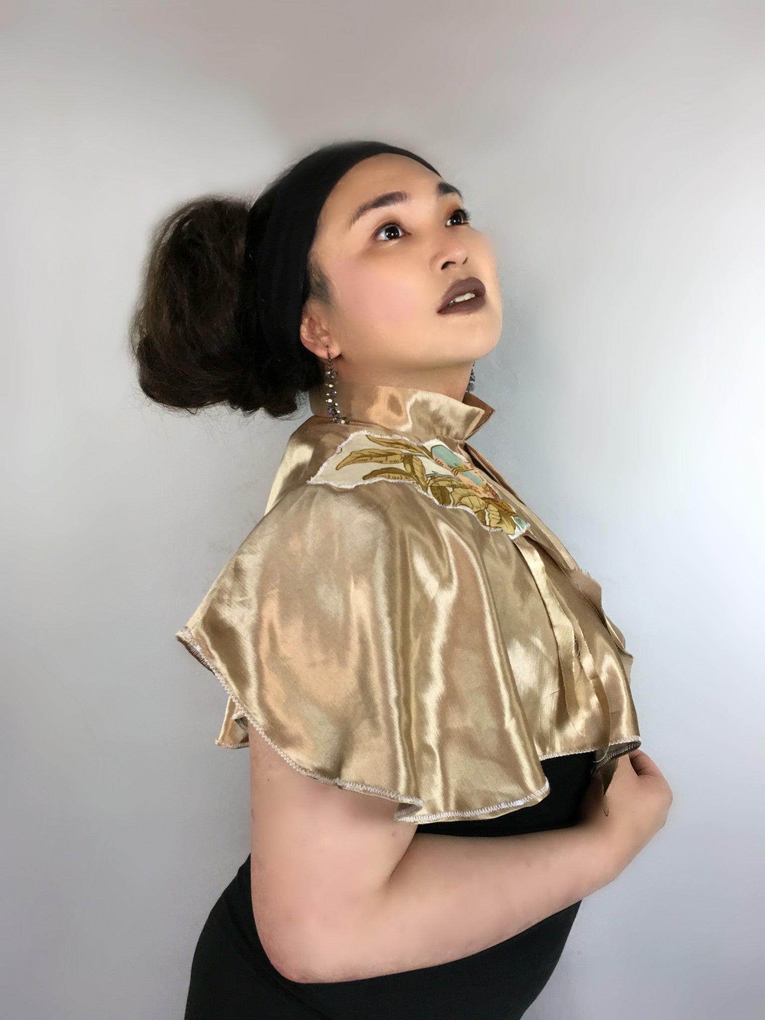 Hemp Silk Capelet Gold
