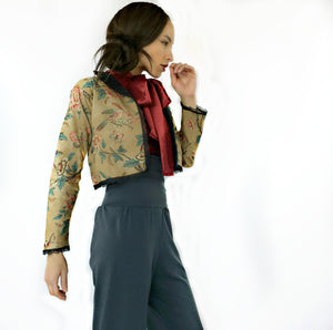 Air Jacket of printed linen