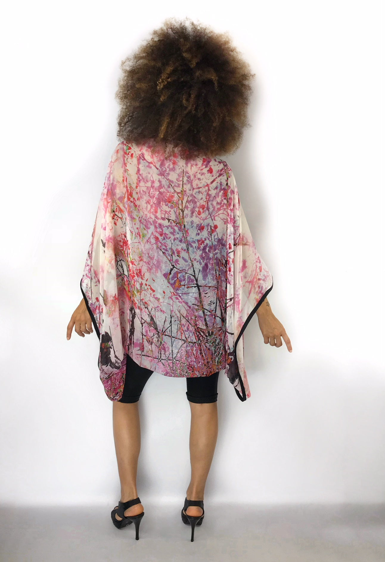 Purple Skies Tree Print Instaglam Shrug