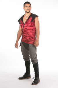 Crimson Hemp Silk Vest