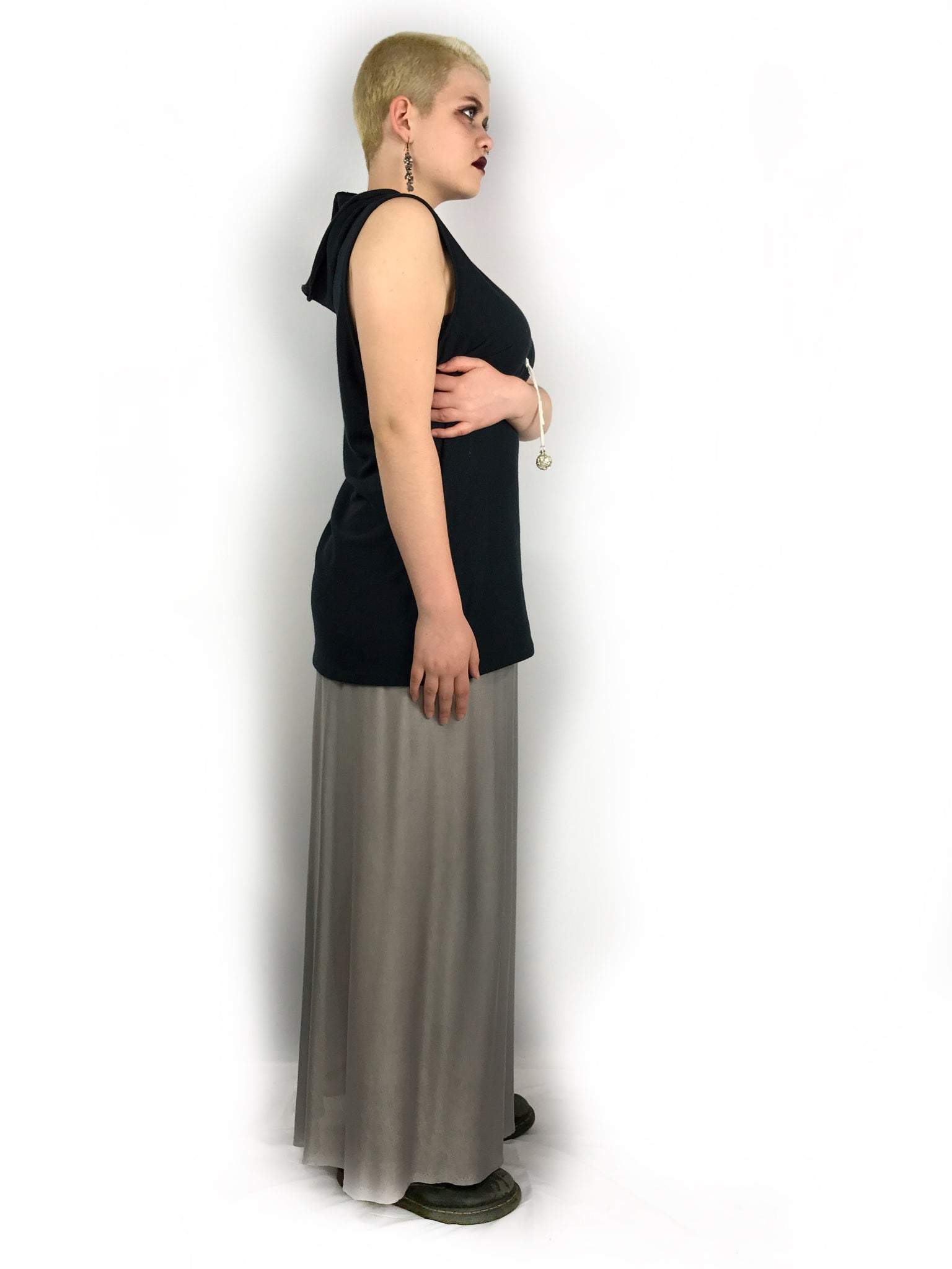 Silver Sustainable Skirt