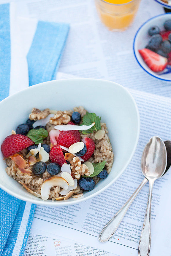Brown rice breakfast - Jo's sweet version