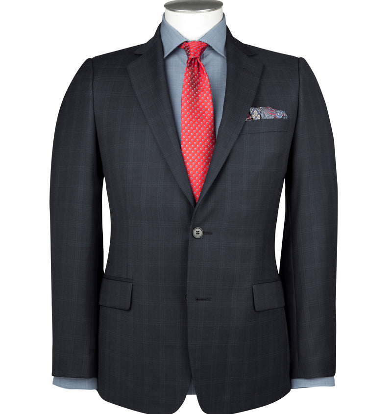 BO9179 Blue Check Suit