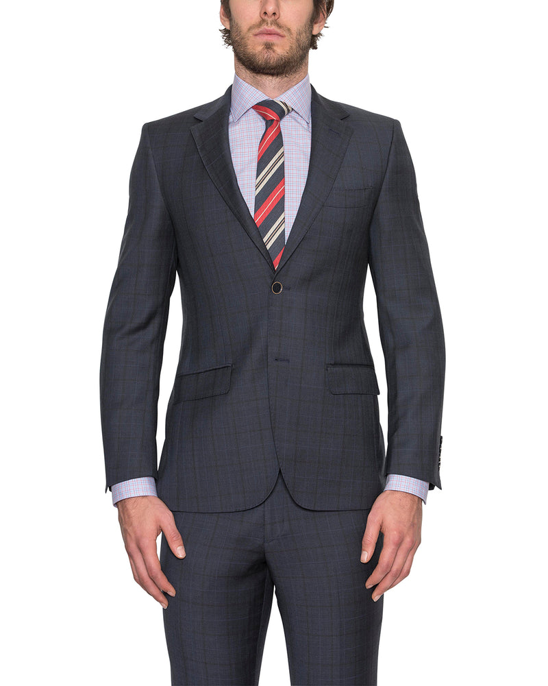 FCE481 Blue Checked Suit