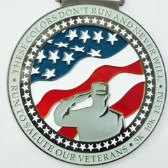 Run To Salute Our Veterans Finished Medal