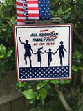 ALL AMERICAN FAMILY RUN - ON SUPER SALE!!! - Full Medal Runs Running Medals