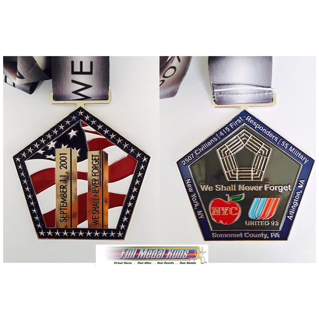 We Shall Never Forget 9/11 - ONLY 6 spots left! - Full Medal Runs Running Medals