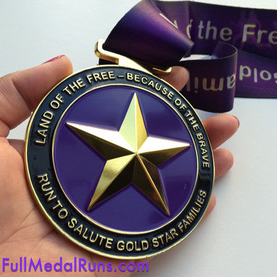 RUN TO SALUTE GOLD STAR FAMILIES Virtual Run - Full Medal Runs Running Medals