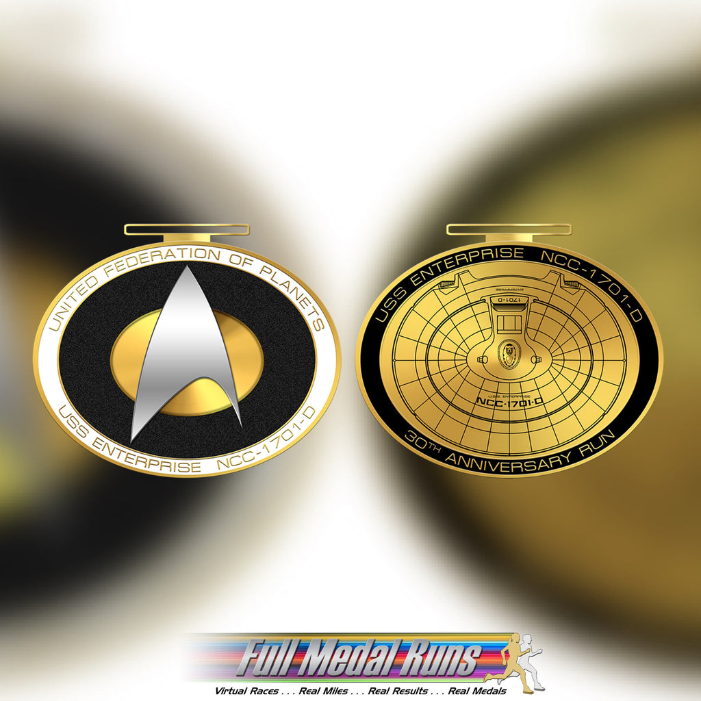 TNG RUN - ONLY 6 LEFT WILL NOT BE REORDERED!!! - Full Medal Runs Running Medals
