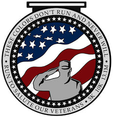 Run To Salute Our Veterans Medal Artwork