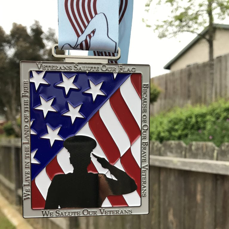 RUN TO SALUTE VETERANS - 10 MEDALS REMAINING!!! - Full Medal Runs Running Medals
