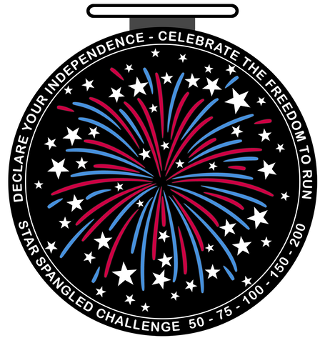 STAR SPANGLED CHALLENGE - Monthly 50 to 200 Mile Challenge