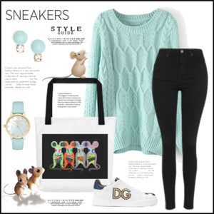 Sneakers Style: Featuring DogzPrinted Tote Bag!