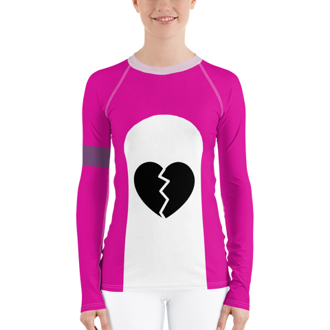 Pink Bear Hero Women's Rash Guard Shirt - DogzPrinted