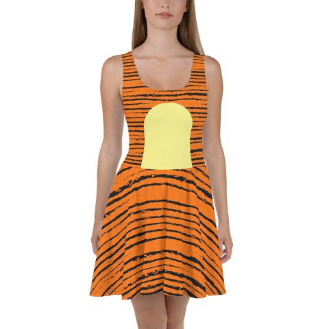 Tigger Skater Flare Skater Dress for women - DogzPrinted