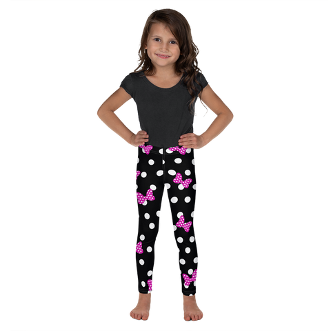 Polka Dot Bows - Pink - Kids Leggings - DogzPrinted