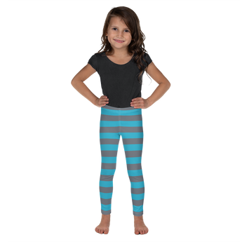 Blue and Grey Cheshire Cat Kids Leggings - 2T-7 - DogzPrinted