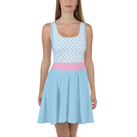 Bo Peep Skater Dress for women - DogzPrinted