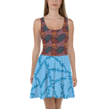 Sally Skater Flare Skater Dress for women - DogzPrinted