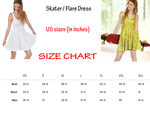 Jasmine Princess Flare Skater Dress for women - DogzPrinted