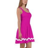 Taffyta Muttonfudge Flare Skater Dress for women - DogzPrinted
