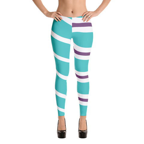Vanellope Striped Women Regular Leggings - DogzPrinted