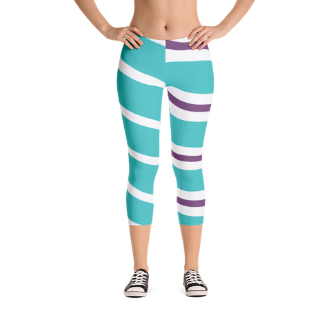 Vanellope Striped Women's Regular Capris - DogzPrinted