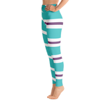 Vanellope Striped Women's Yoga Leggings - DogzPrinted