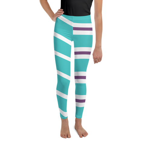 Vanellope Striped Kids & Youth Leggings - DogzPrinted