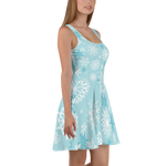 Elsa Frozen Skater Dress for women - DogzPrinted