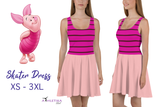 Piglet Flare Skater Dress for women - DogzPrinted