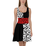 Cruella de Vil Skater Dress for women - DogzPrinted