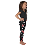 Polka Dot Bows - Red - Kids Leggings - DogzPrinted