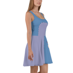 Eeyore Donkey Flare Skater Dress for women - DogzPrinted