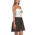 Porg Star Wars Flare Skater Dress for women - DogzPrinted