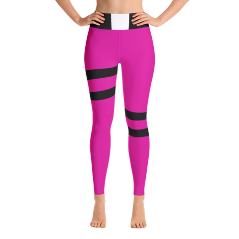 Pink Bear Hero Women's Yoga Leggings - DogzPrinted