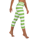 Strawberry Shortcake Women's Yoga Striped Capris Pants - DogzPrinted