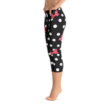 Minnie Mouse Polka Dot Bows Women's Capris Pants - DogzPrinted