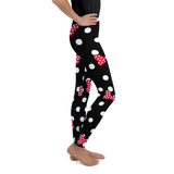 Polka Dot Bows - Red - Kids & Youth Leggings - DogzPrinted