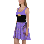 Ursula Villain Flare Skater Dress for women - DogzPrinted