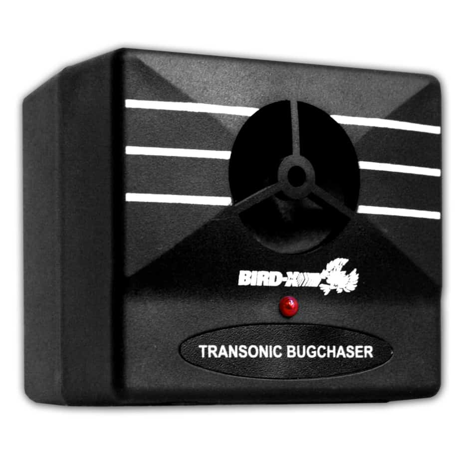 Bird-X - Transonic BugChaser - Commercial-Grade Indoor Bug Repeller For Driving Away Insects, Rodents, Bats - Perfect For Kitchens, Basements, Attics & Home Offices