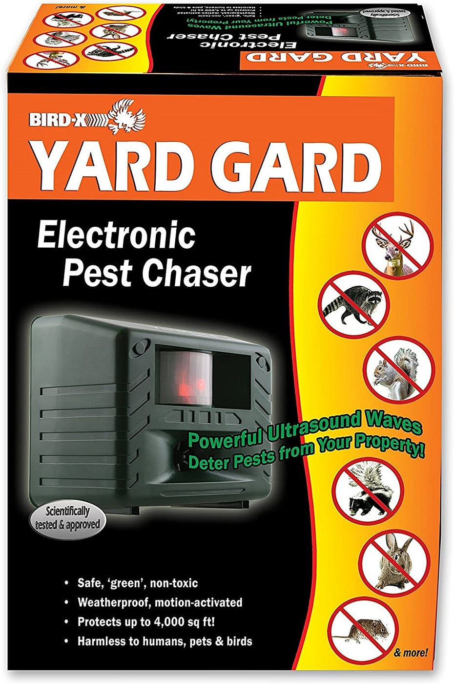 Bird-X - YardGard - #1 Ultrasonic Animal Repeller For Deer, Racoons, Skunks, Rabbits & Small Animals