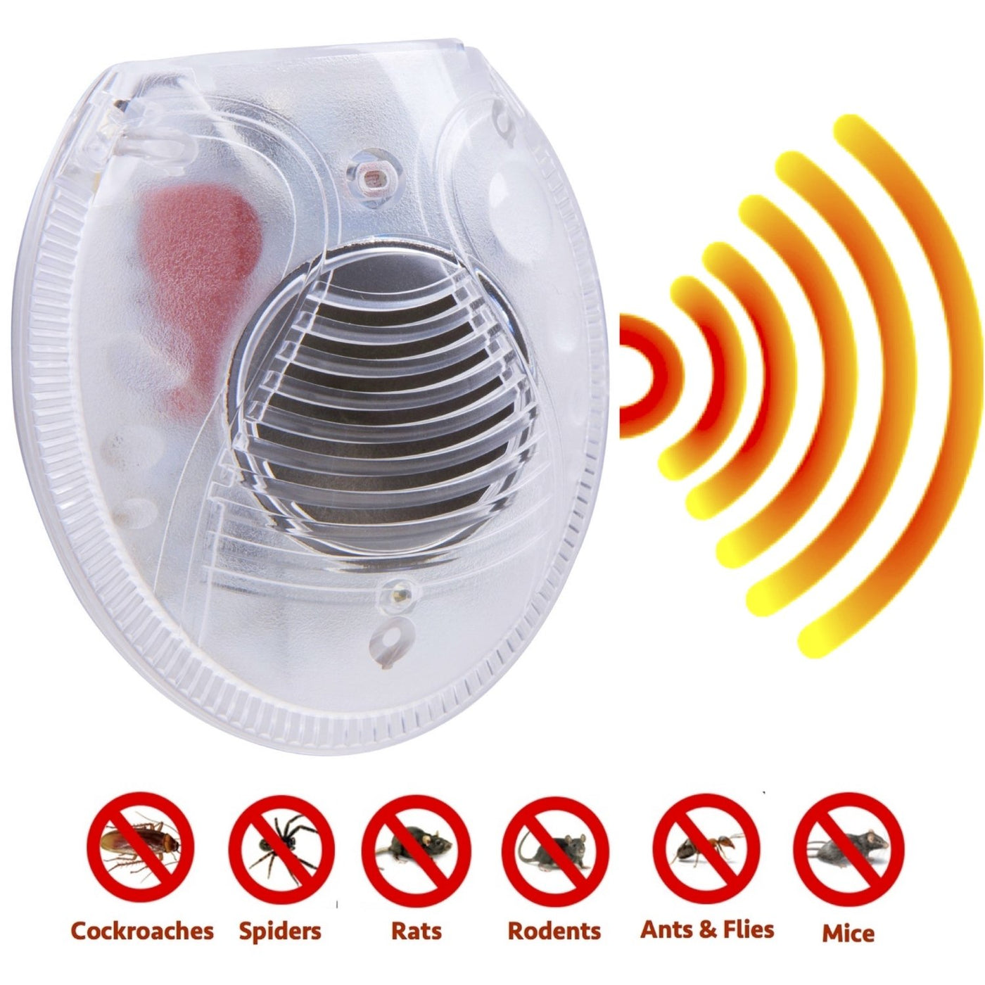 Pest Repeller Device - Pest Repeller 6 Pack - Ultrasonic & Electromagnetic Plug In Pest Repellent Device