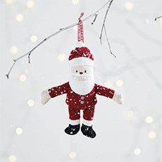 Father Christmas Red Knitted Tree Ornament