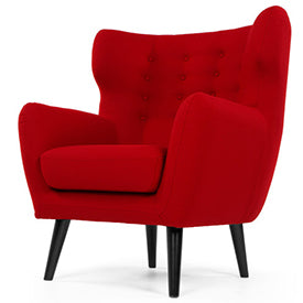 Kubrick Armchair in rose red wool mix from Made